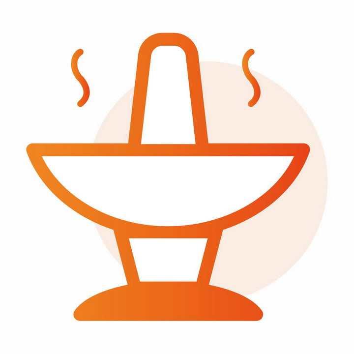 橙色火锅美食图标png图片免抠素材