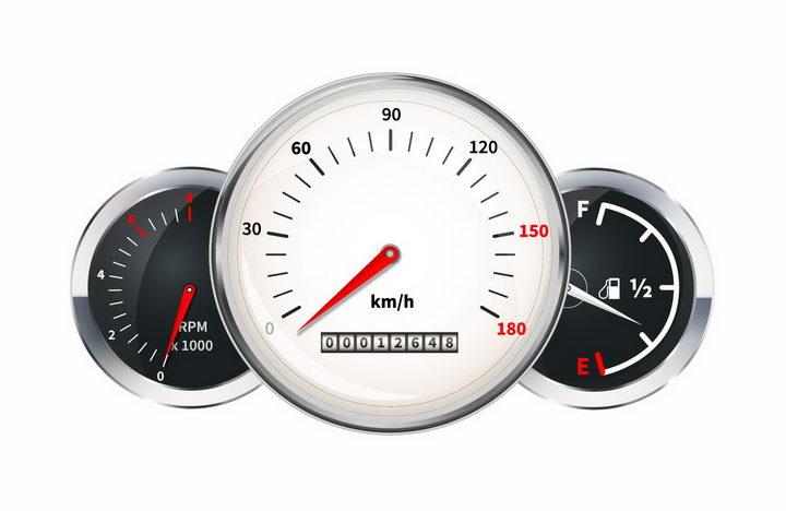 汽车仪表盘速度表油量表png图片免抠矢量素材 交通运输-第1张
