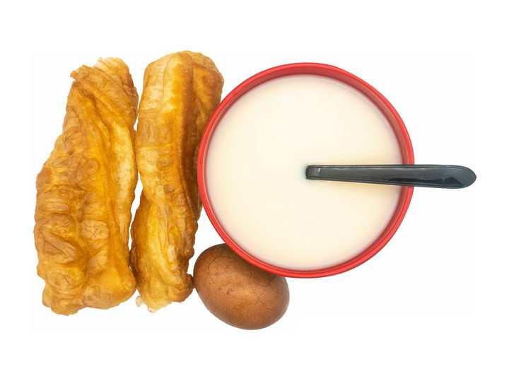 豆浆油条茶叶蛋美味早餐png图片免抠素材