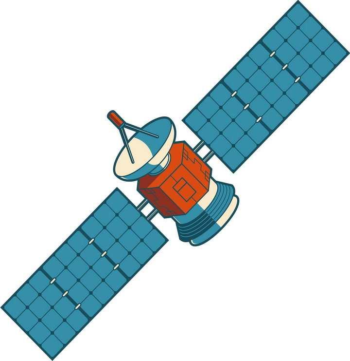 卡通风格人造卫星png图片免抠素材