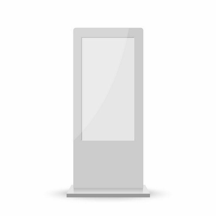 银白色的触摸一体机落地立式广告机png图片免抠矢量素材 IT科技-第1张