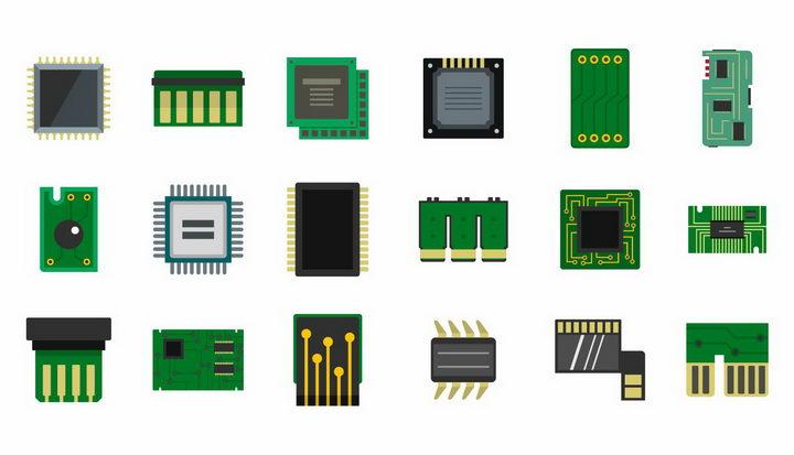 18款CPU处理器集成电路写实图标png图片免抠矢量素材 IT科技-第1张