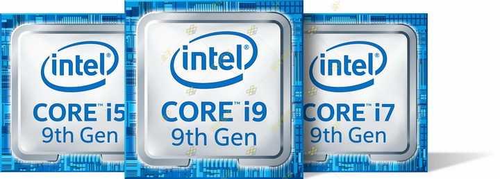 英特尔酷睿i5/i7/i9第九代处理器立体标志png图片免抠素材