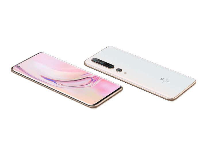 白颜色的小米10Pro手机正反面png图片免抠素材
