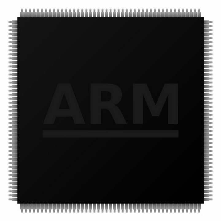 ARM手机处理器模型png图片免抠素材