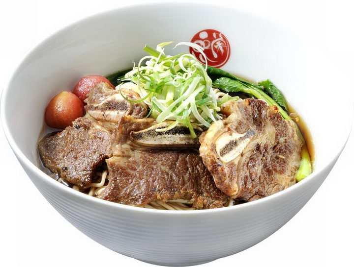 一碗美味的的大排面美食面条png图片免抠素材