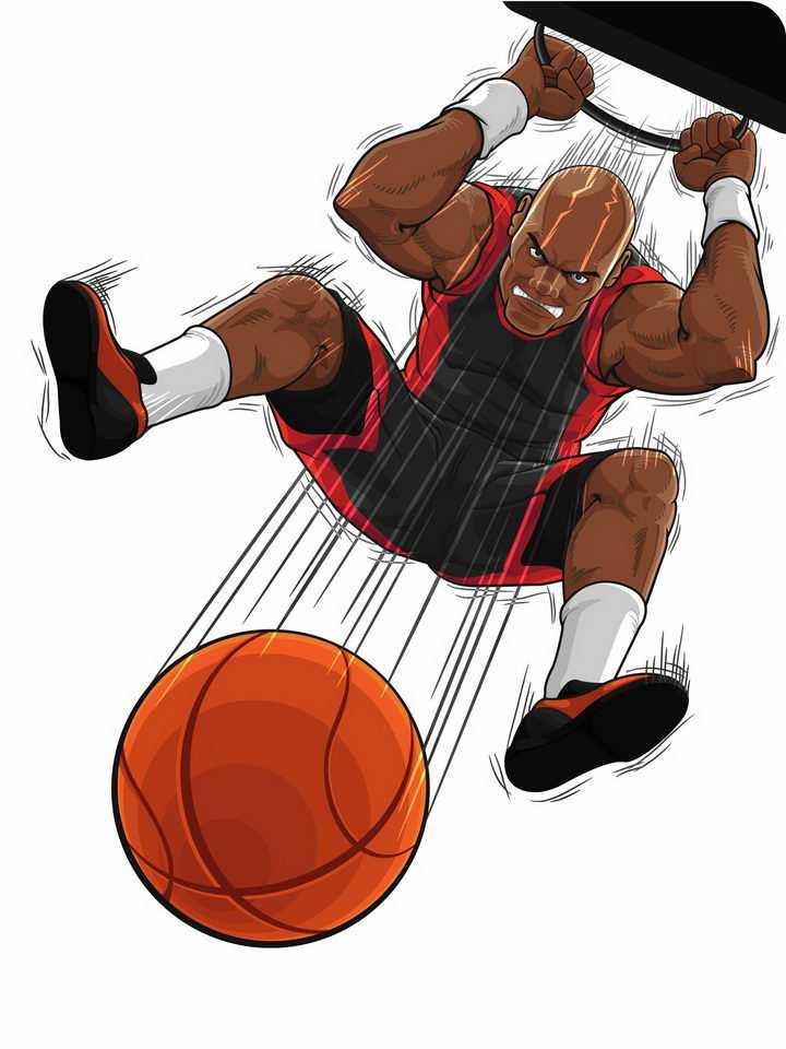 漫画风格灌篮高手打篮球png图片免抠矢量素材