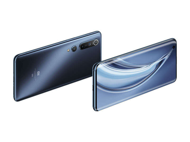 黑色光泽的小米10Pro手机正反面png图片免抠素材
