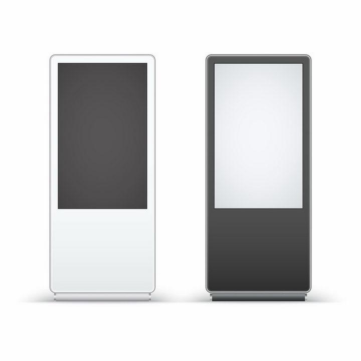 两款立式LED电子广告牌触摸一体机落地立式广告机png图片免抠矢量素材 IT科技-第1张