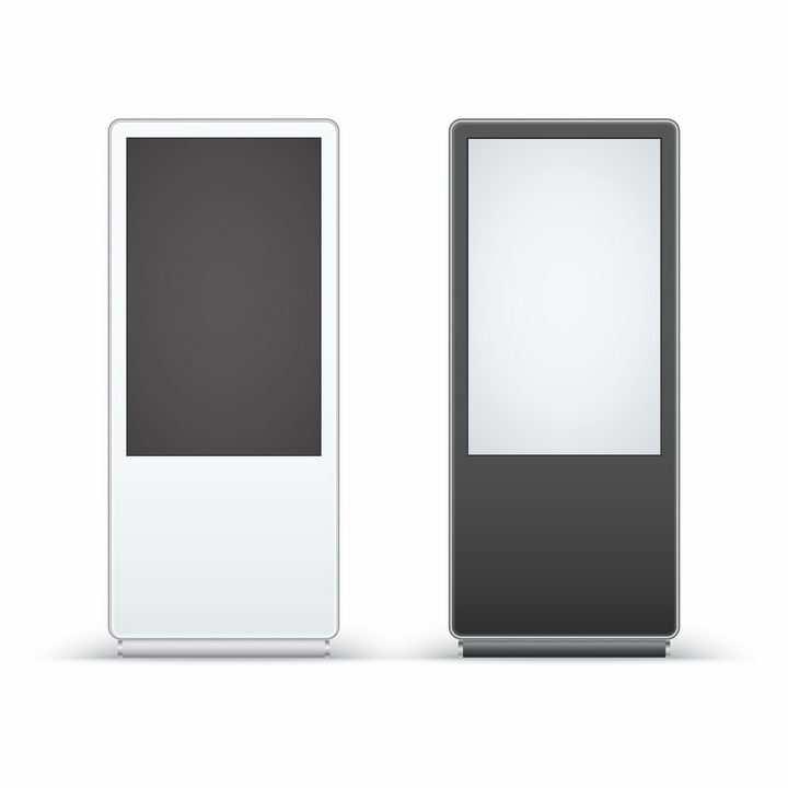 两款立式LED电子广告牌触摸一体机落地立式广告机png图片免抠矢量素材