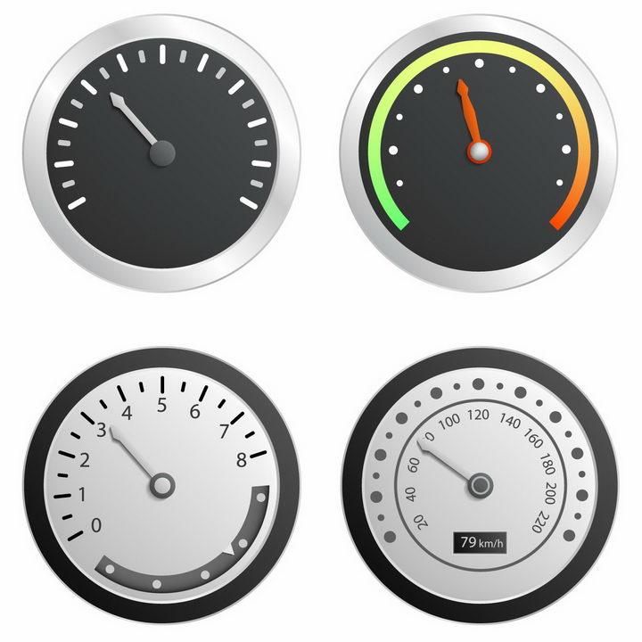 逼真的汽车速度表仪表盘档位表png图片免抠矢量素材 交通运输-第1张