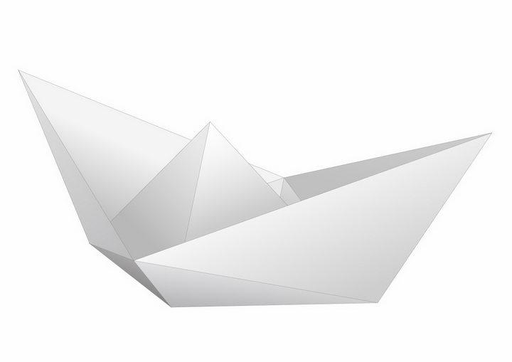 简约的折纸船png图片免抠矢量素材 休闲娱乐-第1张