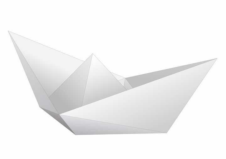 简约的折纸船png图片免抠矢量素材