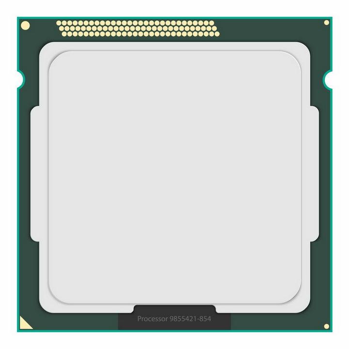 逼真的处理器CPU正面png图片免抠矢量素材 IT科技-第1张