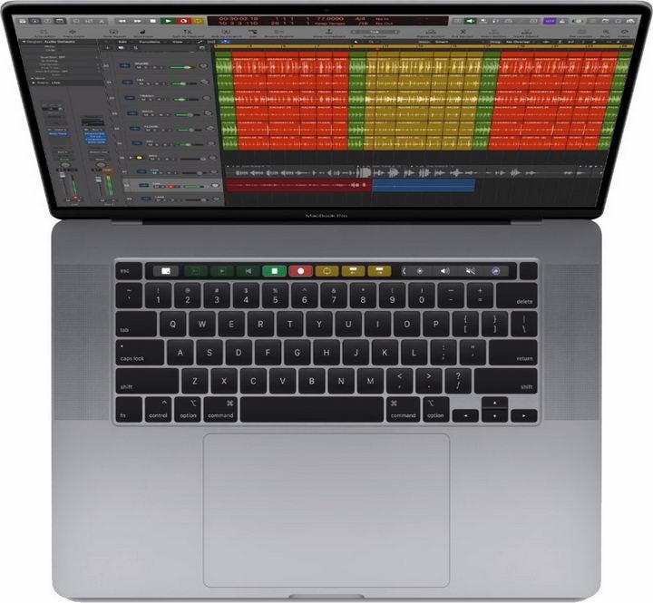 16英寸苹果Macbook Pro 16笔记本电脑俯视图png图片免抠素材 IT科技-第1张