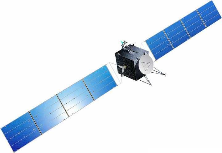 展开太阳能帆板的通信卫星人造卫星png图片免抠素材