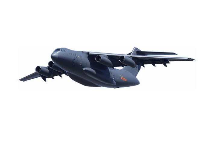 运20军用大型运输机透明png高清免抠图片
