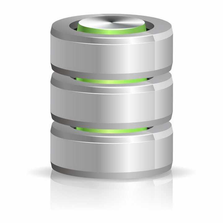 逼真的3D圆柱形硬盘数据库存储标志png图片免抠矢量素材