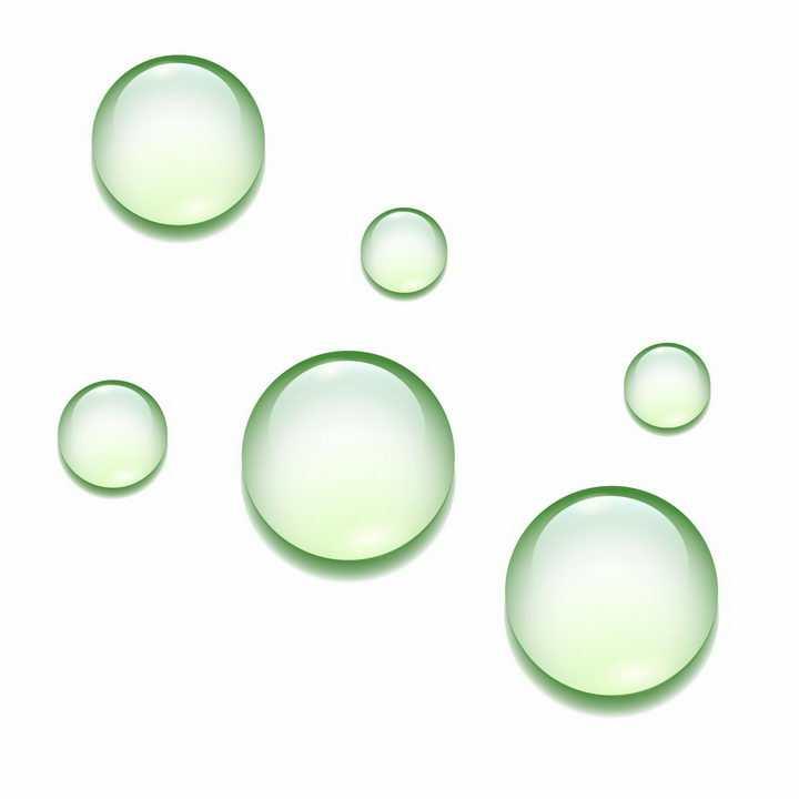 绿色的水滴水珠效果png图片免抠ai矢量素材
