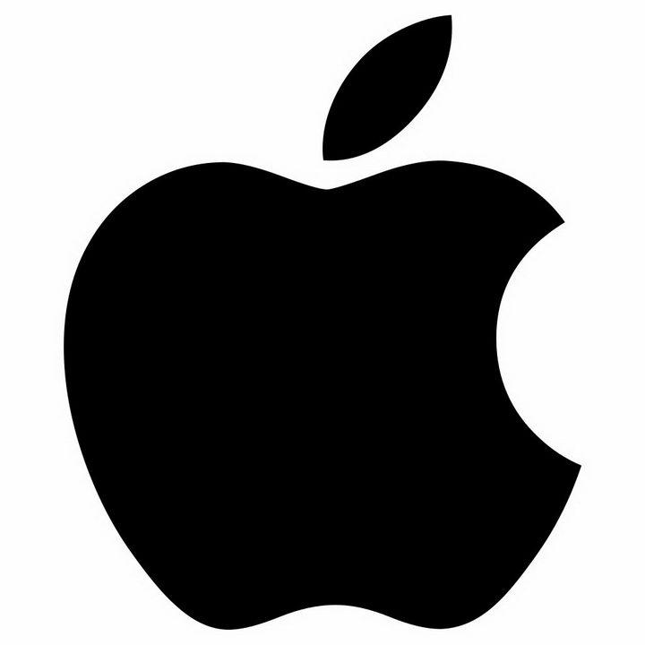 黑色苹果logo世界品牌500强标志png图片免抠素材 标志LOGO-第1张