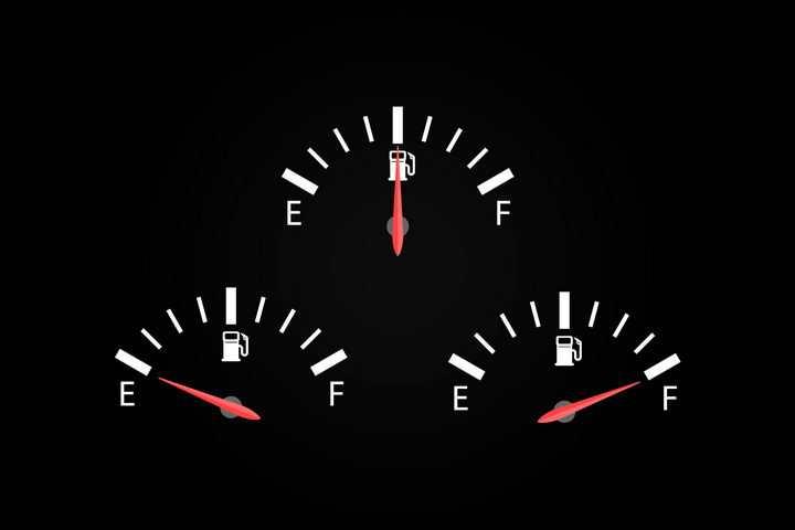 3款汽车油表和指针png图片免抠矢量素材