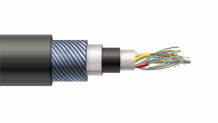 电线电缆剖面结构图png图片免抠eps矢量素材