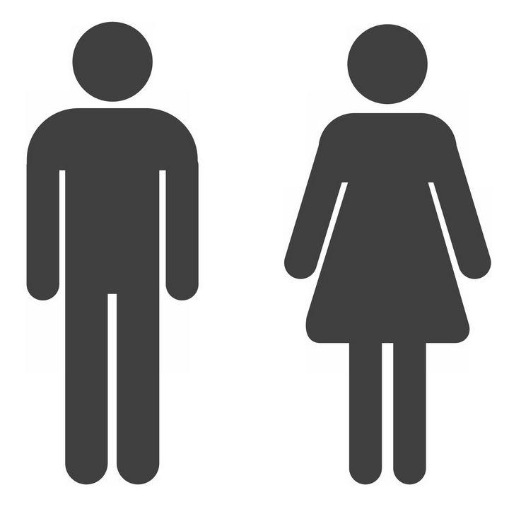 圆角男女厕所性别标志png图片免抠素材 标志LOGO-第1张