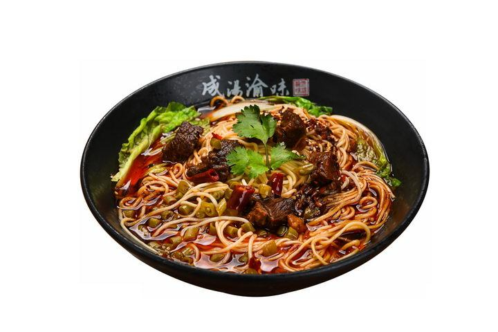 美味的重庆小面红烧牛肉面美食面条png图片免抠素材 生活素材-第1张