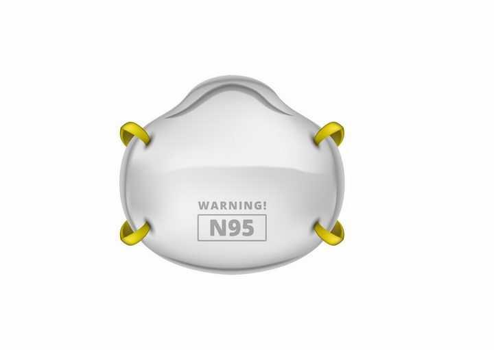 N95口罩防新型冠状病毒医疗防护用品png图片免抠矢量素材