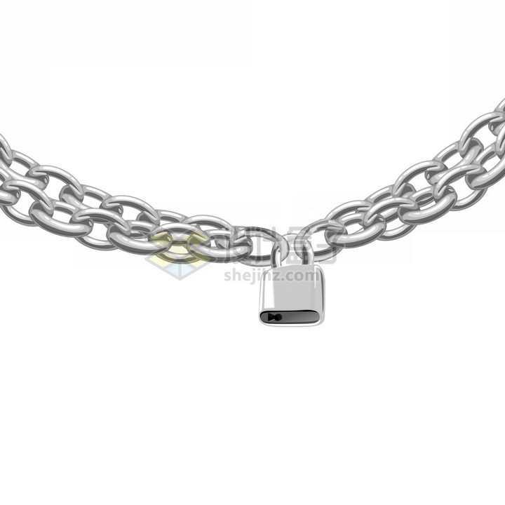 一把锁锁住了两根铁链png图片免抠素材