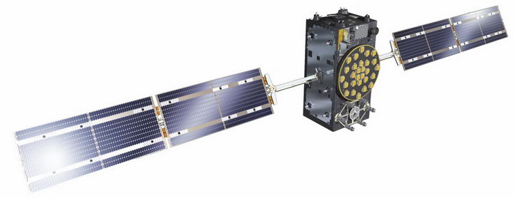 展开太阳能电池板的人造卫星通讯卫星png图片免抠素材 军事科幻-第1张