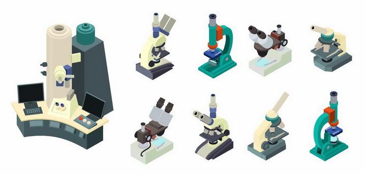 各种电子和光学显微镜png图片免抠矢量素材 科学地理-第1张