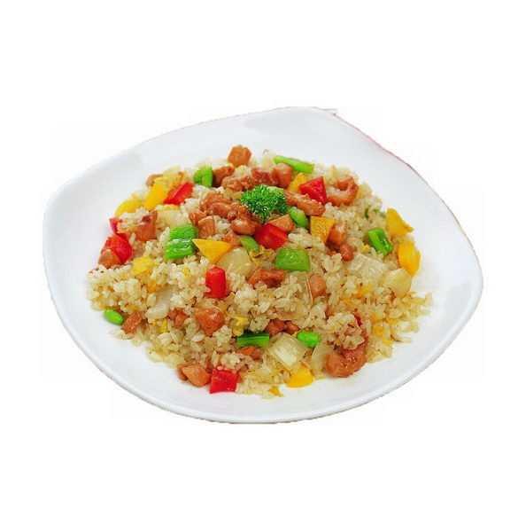 一碗美味的三鲜炒饭扬州炒饭蛋炒饭png图片免抠素材