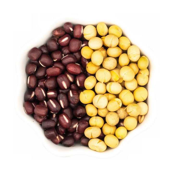 准备磨豆浆的黄豆和红豆png图片免抠素材
