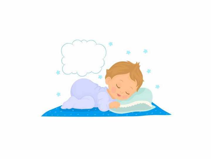 撅着屁股趴着睡觉的卡通小宝宝png图片免抠素材