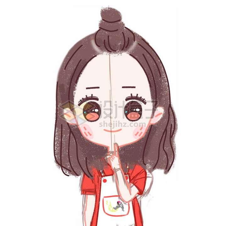 彩绘风格超可爱卡通女孩图片免抠素材