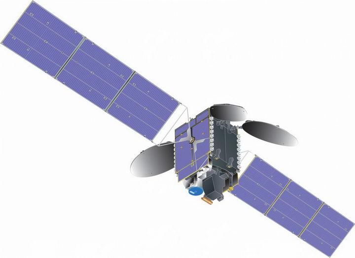展开了太阳能电池板的人造卫星png图片免抠素材 军事科幻-第1张
