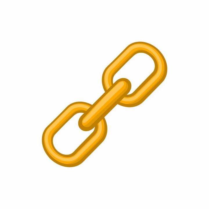 橙色的卡通铁链图案png图片免抠矢量素材