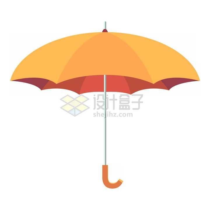 橙色的雨伞png图片免抠素材