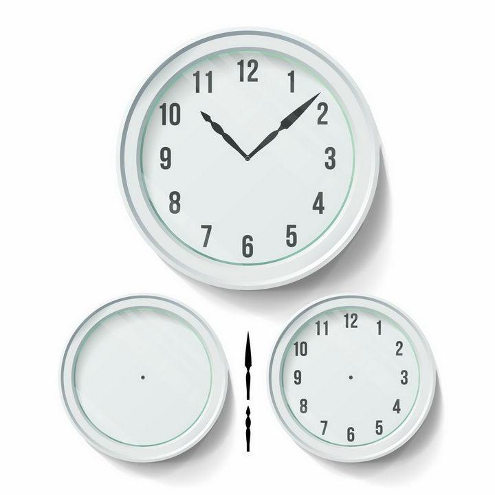 淡绿色的时钟和时针分钟表盘png图片免抠矢量素材 生活素材-第1张