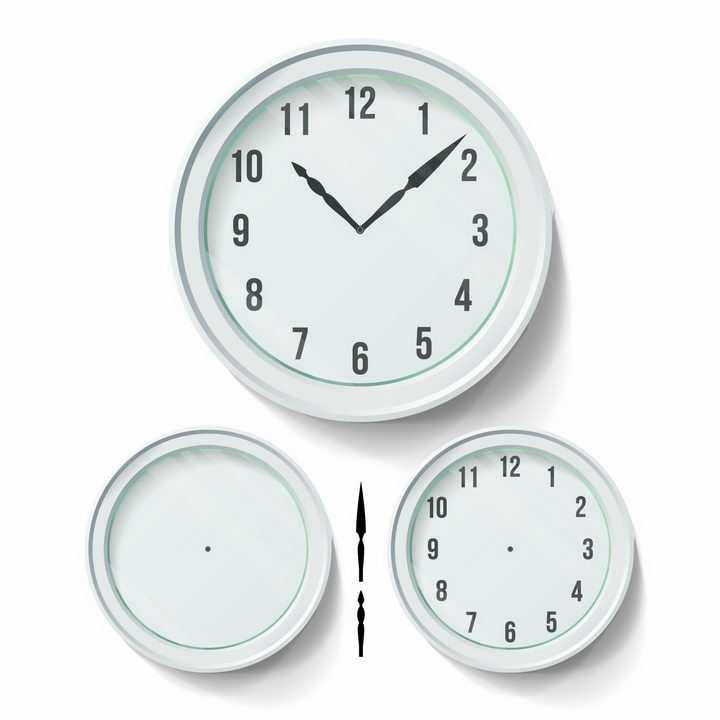 淡绿色的时钟和时针分钟表盘png图片免抠矢量素材