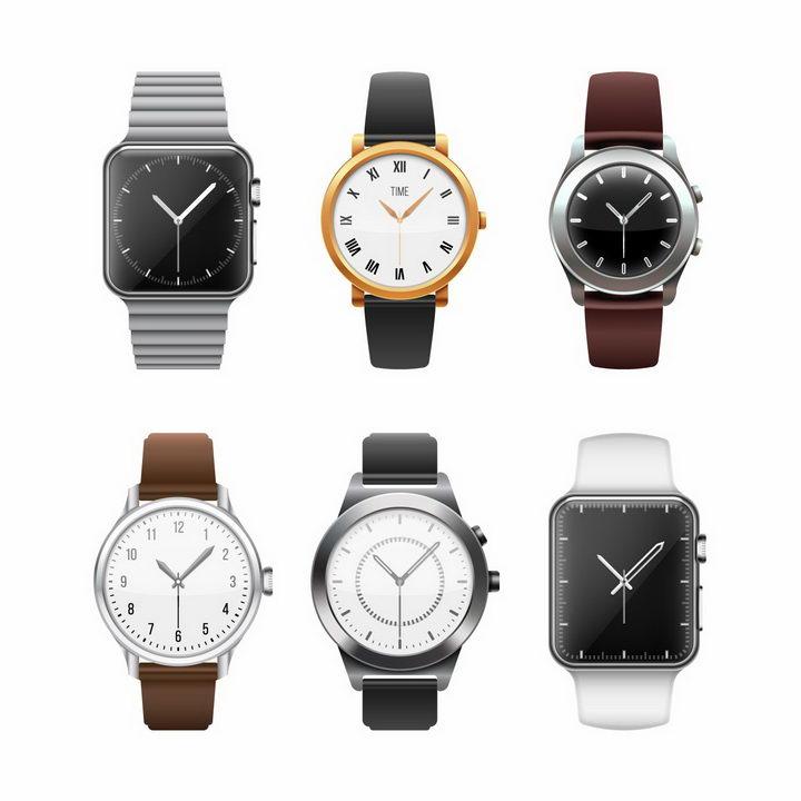 6款智能手表苹果iWatch png图片免抠矢量素材 生活素材-第1张