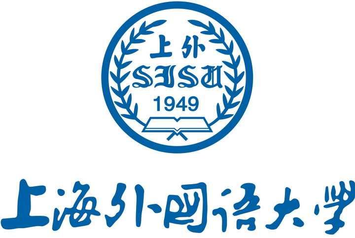 竖版上海外国语大学校徽png图片免抠素材