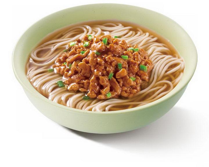 一碗美味的的肉丝面美食面条png图片免抠素材 生活素材-第1张
