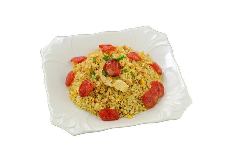 一碗美味的香肠炒饭蛋炒饭png图片免抠素材 生活素材-第1张
