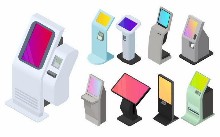 9款3D立体风格触摸一体机卧式广告机png图片免抠矢量素材 IT科技-第1张