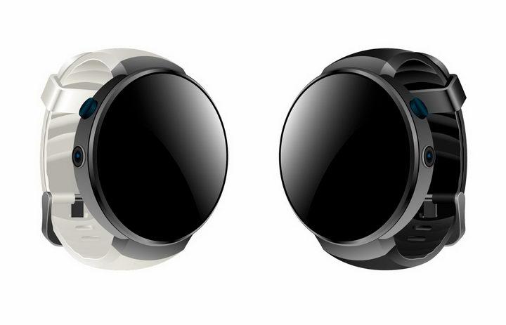白色和黑色表带的圆形智能手表png图片免抠矢量素材 IT科技-第1张