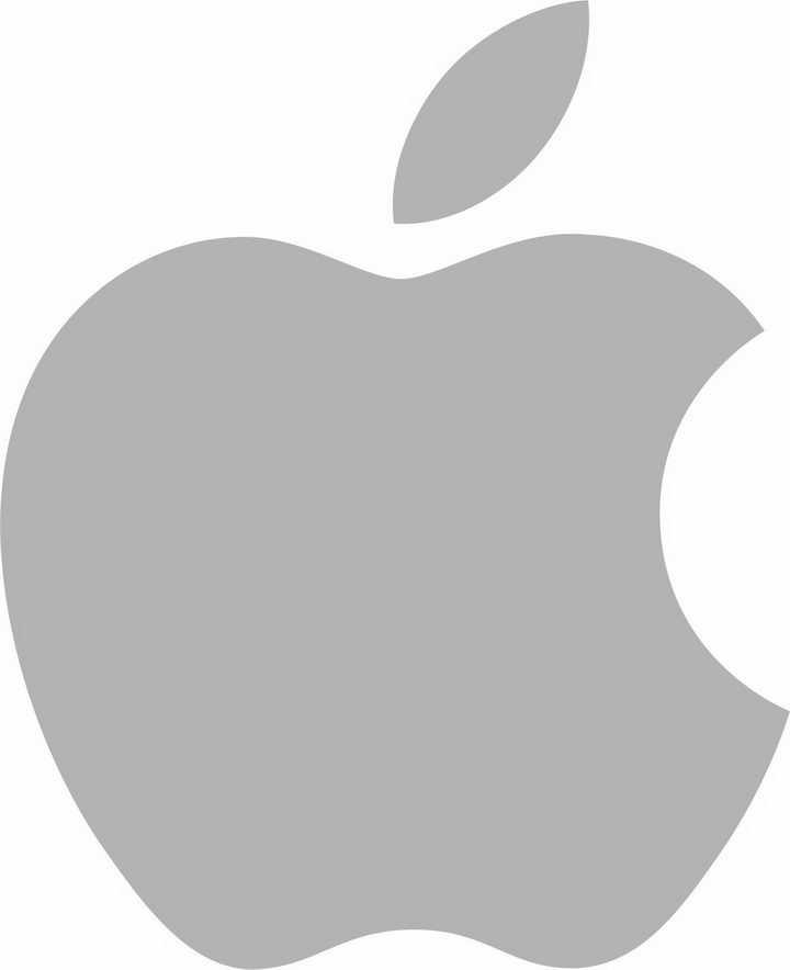 灰色苹果logo世界品牌500强标志png图片免抠素材