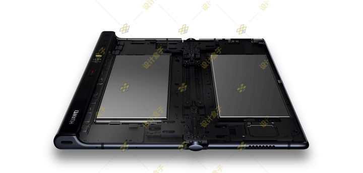 华为Mate Xs折叠屏手机内部结构电池位置图png图片免抠素材