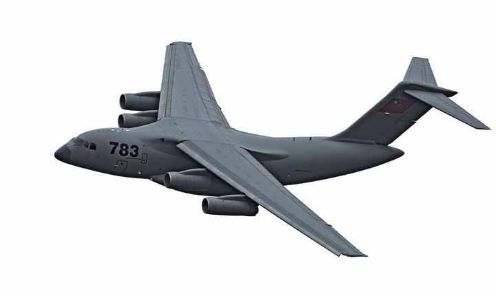 空军运20大型运输机透明png高清免抠图片